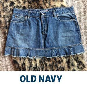 Jean Mini skirt with pleat bottom